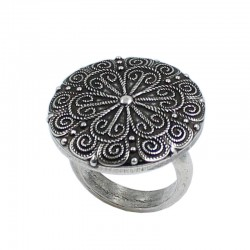 Mandala adjustable ring