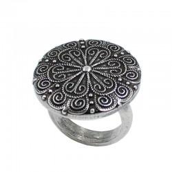 Mandala en anillo ajustable