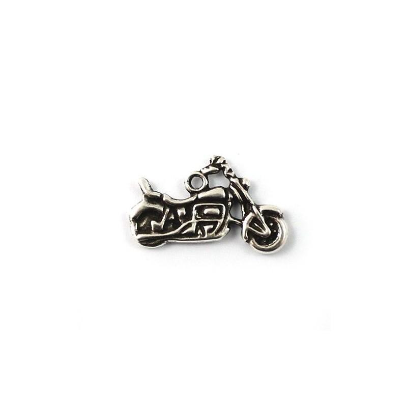 Charms bike zamak and silver