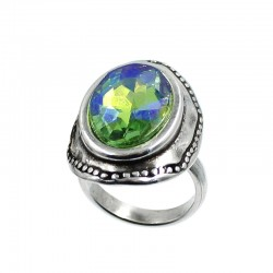 Adjustable ring with large...