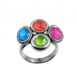 Ring of four Swarovski...