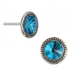 Earrings round stone Rivoli