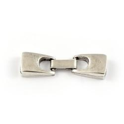 Fermeture de la bande de 10mm. le zamak et de l'argent pour faire des bracelets