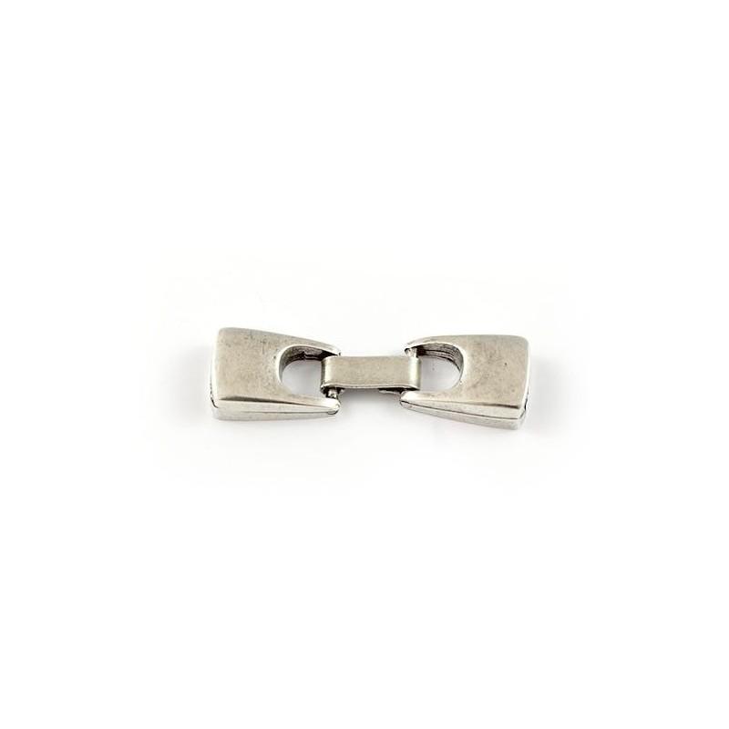 Closure strip 10mm. zamak and silver for making bracelets