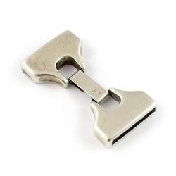 Cierre de fleje 20mm. de zamak y plata para hacer pulseras