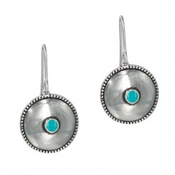 Earrings round with enamel