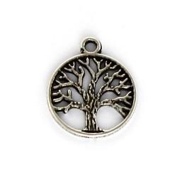 Colgante árbol de la vida de zamak y plata