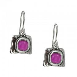 Earrings with stone Rivoli