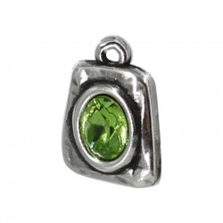 Pendant with oval stone