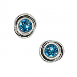 Earrings round crystal