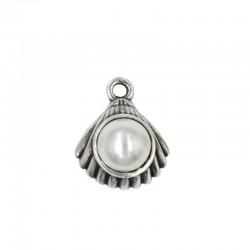 Colgante concha con perla