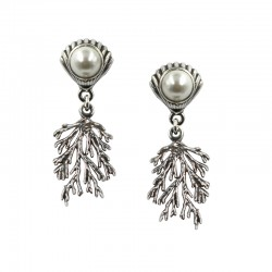 Earrings shell with pearl...