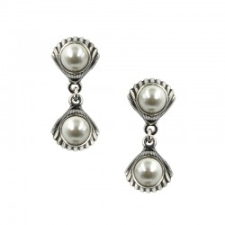 Earrings double shell with...