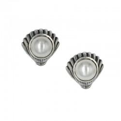 Pendientes de concha con perla