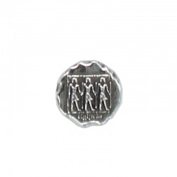 Rivet button with Egyptian...