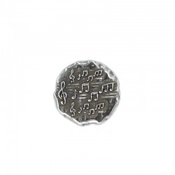 Rivet button with music notes