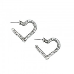 Carved heart hoops