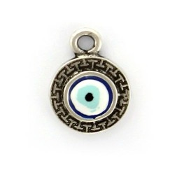 Charm eye Turkish zamak and silver