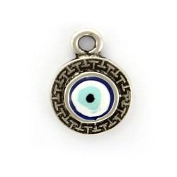 Charm ojo turco de zamak y plata