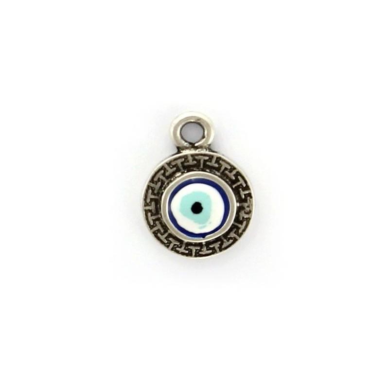 Charm eye Turkish zamak and silver
