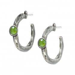 Hoop earrings with crystal
