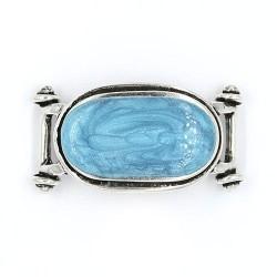 Abalorio para pulseras ovalado con cabujón