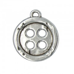 Large button pendant
