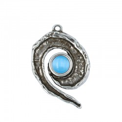 Spiral Pendant with Crystal...