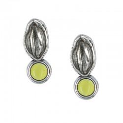 Seashell earrings with crystal