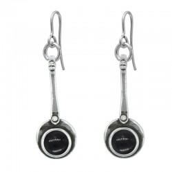 Long earrings with crystal