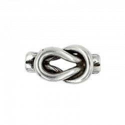 Trinket little knot of zamak with silver plated