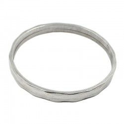 Bracelet zamak rigid with silver finish