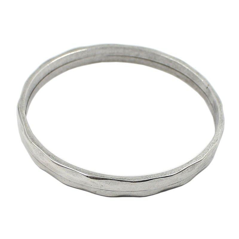 Bracelet zamak rigid with silver finish