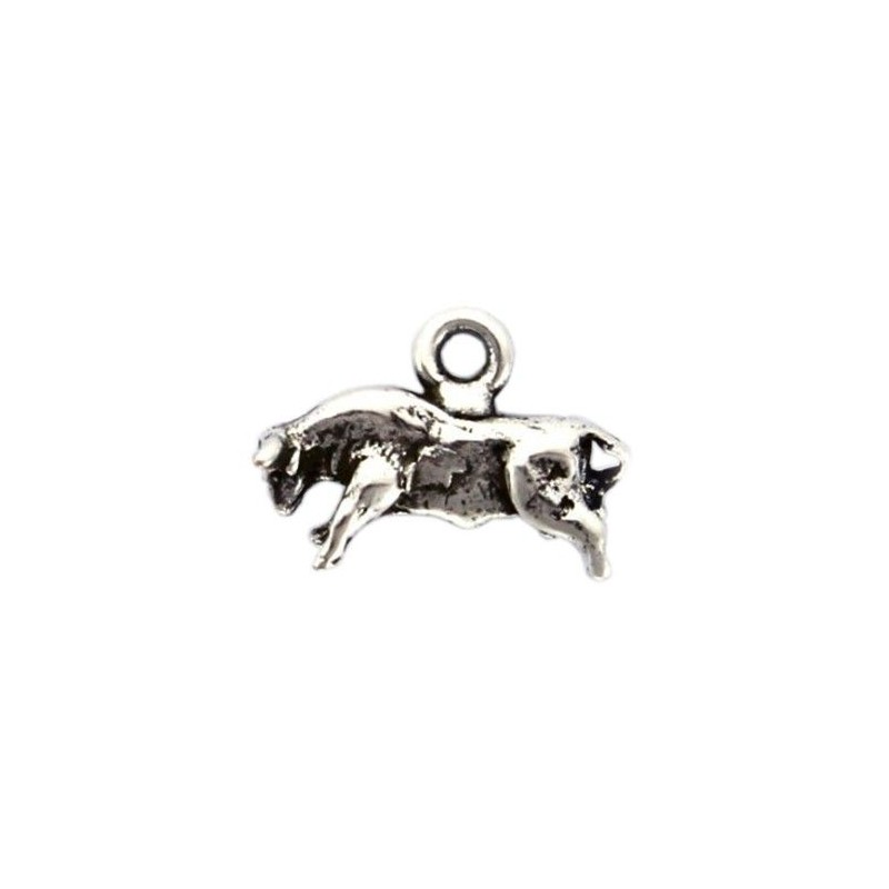 Charms bull in zamak and silver