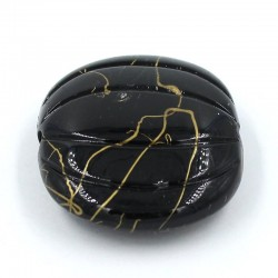 Trinket gourd of resin in black color