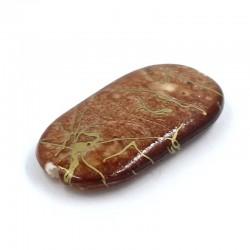 Abalorio plano de resina en color marrón