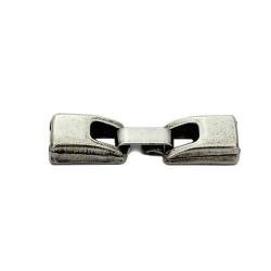 Cierre de fleje 6mm. de zamak y plata para hacer pulseras