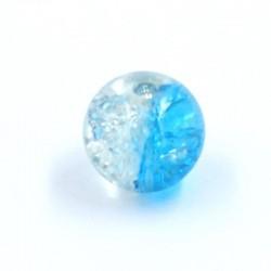 Boule résine bicolore bleu