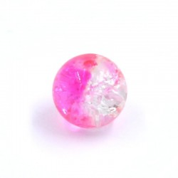 Ball resin two-tone pink