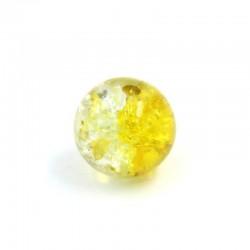 Boule résine bicolore jaune