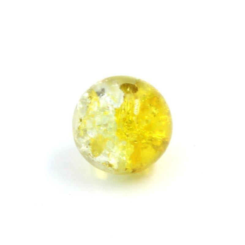Bola resina bicolor amarilla