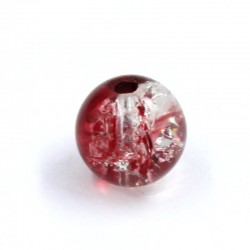 Boule résine bicolore rouge