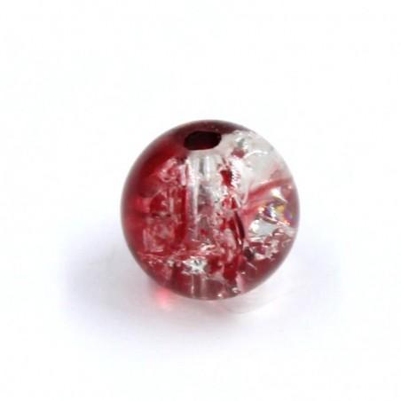 Bola resina bicolor roja