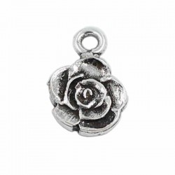 Charm Rose zamak on bath old silver