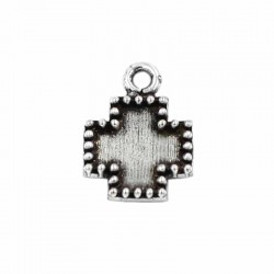 Charm Cross zamak with silver plated