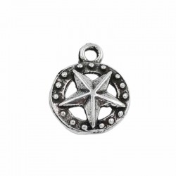 Charm star of zamak with silver plated old