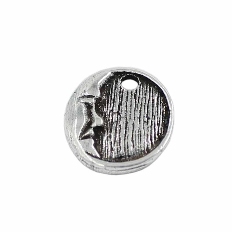 Charm Moon zamak with silver plated old
