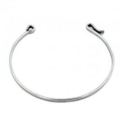 Bracelet rigide avec crochet, fait de laiton et d'argent