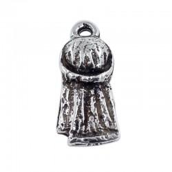 Colgante costal pequeño en zamak y plata