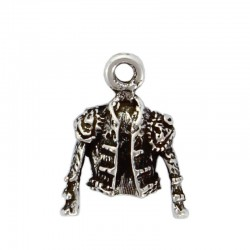 Pendant charms jacket of a bullfighter of zamak and silver